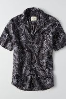 American Eagle Outfitters AE Print Short Sleeve Camp Shirt