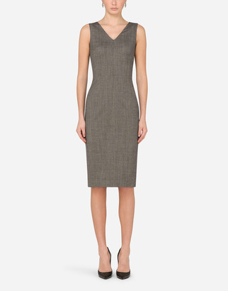 Dolce & Gabbana Glen Plaid Midi Dress