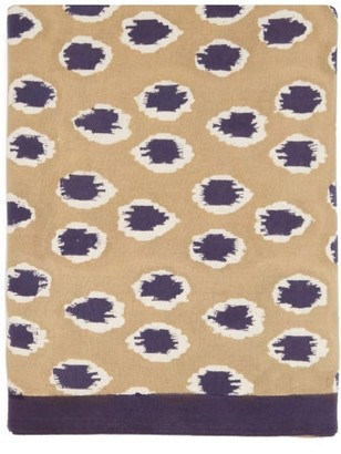Les Ottomans - 250cm X 150cm Ikat-print Cotton Tablecloth - Beige Multi