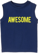 Crazy 8 Handsome Navy 'Awesome' Tank - Infant & Toddler