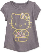 Hello Kitty Glitter Graphic-Print T-Shirt, Little Girls