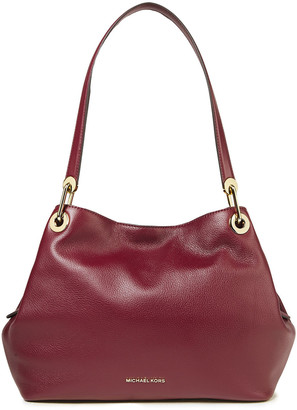 MICHAEL Michael Kors Raven Textured-leather Shoulder Bag