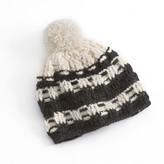 Sijjl SIJJL Intricate Pom-Pom Crochet Knit Wool Beanie