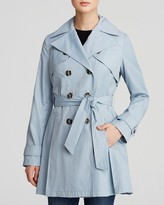 Laundry by Shelli Segal Coat - Double-Breasted Button Front Trench