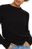 Topshop Women's Ribbed Crewneck Sweater