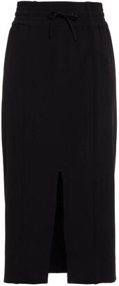 Ganni Crepe De Chine Midi Skirt
