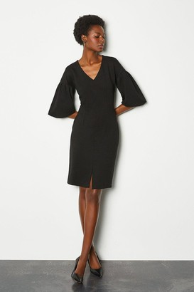 Karen Millen Puff Sleeve Ponte Shift Dress