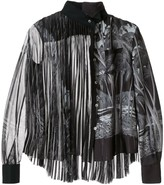 Sacai palm tree print pleated blouse