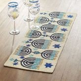 Pier 1 Imports Hanukkah Menorah Beaded Table Runner
