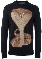 Givenchy cobra intarsia knit sweater
