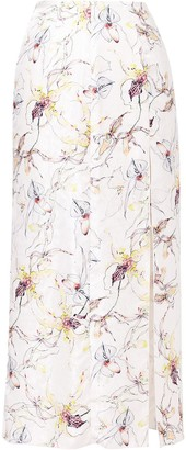 Jason Wu Collection Wild Orchid Silk Satin Jacquard Skirt