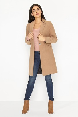 Girls On Film Camel Coat