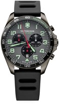Victorinox Field Force Sport Chronograph Stainless Steel Rubber Strap Watch