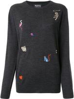 Markus Lupfer animal embroidered jumper