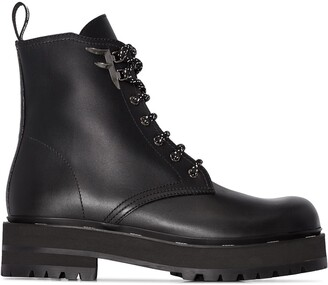 Fendi 50mm lace-up boots