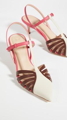 Rosie Assoulin Charisse Slingback Lattice Heels