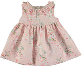 Mayoral Sleeveless Floral Linen-Blend Dress w/ Bloomers, Rose, Size 6-36 Months