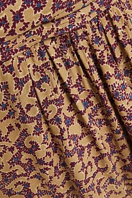 BA&SH Chelsea Wrap-effect Floral-print Crepe Dress