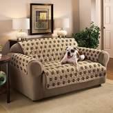 Innovative Textile Solutions Paw Prints Microfiber Sofa Protector