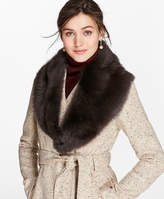 Brooks Brothers Toscana Shearling Scarf