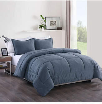 Messy Bed Washed Cotton Comforter Mini Set, Twin Extra Long