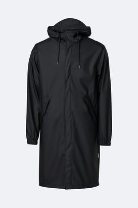 Rains Black Fishtail Parka Coat - XXS/XS | black - Black/Black