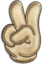 Anya Hindmarch Victory Sticker for Handbag, Gold