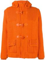 Bark quilted hooded jacket