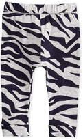 Kenzo Tiger Stripe Stretch Leggings, Gray, Size 12-18 Months