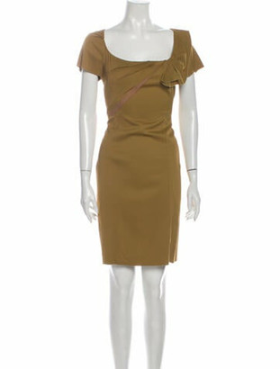 Zac Posen Square Neckline Mini Dress w/ Tags Green