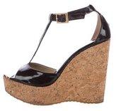 Jimmy Choo Pela Patent Leather Wedge Sandals
