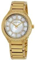 Michael Kors MK3312 Gold Tone Stainless Steel wDiamonds Mother of Pearl Dial Quartz 38mm Women