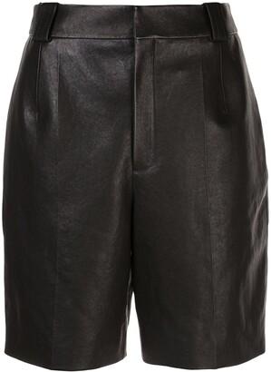 Saint Laurent Pleated Detail Bermuda Shorts