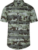 Hurley Men's Argo Camo Stripe Cotton Shirt