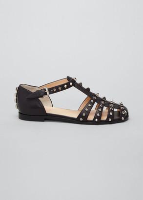 Christian Louboutin Loubiclou Studded Gladiator Flat Sandals