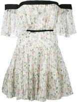 Giambattista Valli pleated tiered mini dress - women - Silk - 40