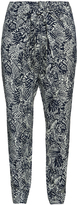 Isolde Roth Plus Size Front tie printed harem trousers
