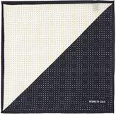 Kenneth Cole Noto Polka Dot Printed Silk Pocket Square