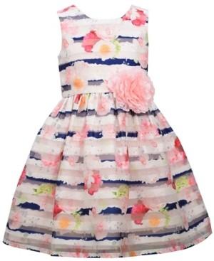 Bonnie Jean Little Girls Sleeveless Burnout Organza Party Dress