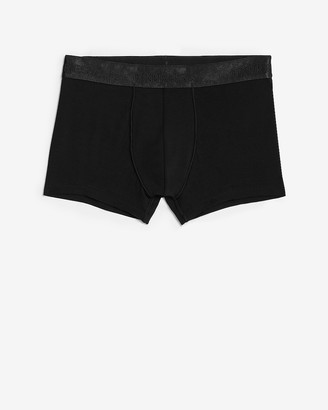 Express Black Metallic Waistband Sport Trunks