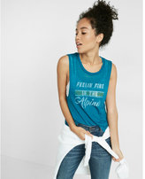 Express One Eleven Feeling Fine Crew Neck Muscle Tank
