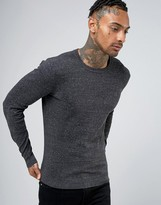 Diesel Crew Knit Sweater K-Maniky Slim Fit in Dark Gray