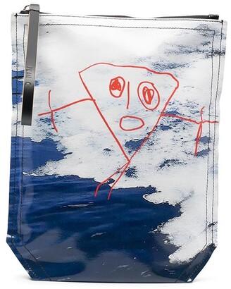 Plan C Hand Drawing Print Clutch