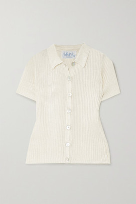 Calle Del Mar - Ribbed-knit Shirt - Beige