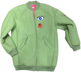 Manoush Green Cotton Jacket for Women