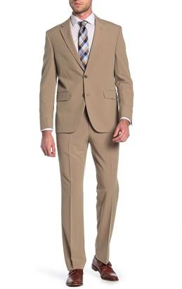 Dockers Tan Solid Two Button Notch Lapel Suit