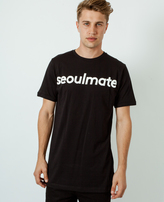 A Question Of Seoulmate Crew Neck T-Shirt Black