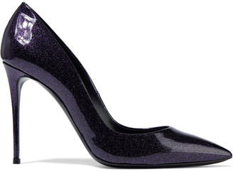 Casadei Glittered Patent-leather Pumps