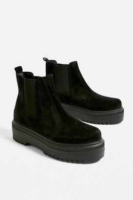 Urban Outfitters Brody Black Suede Platform Chelsea Boot