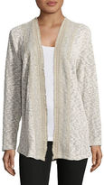 Style And Co. Fringed Crochet-Trim Cardigan